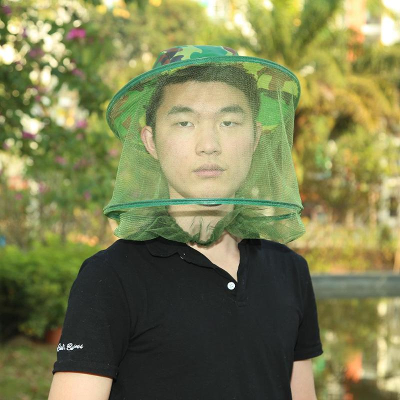 Mosquito head net bee and bug head shading net face protector Outdoor BE