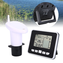 超音波水タンクレベルメーター温度センサー低バッテリー液深度表示時間アラーム送信測定ツール