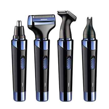 4 in 1 Men Electric Ear Nose Removal Trimmer Razor USB Charging Face Care Eyebrow Shaving Clipper Hair Trimer For Men - DISCOUNT ITEM  40% OFF All Category