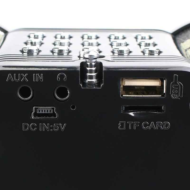 V113 портативный Камуфляжный стерео Цифровой Радиоприемник динамик fm-радио USB TF карта MP3 музыкальный плеер с пультом дистанционного управления