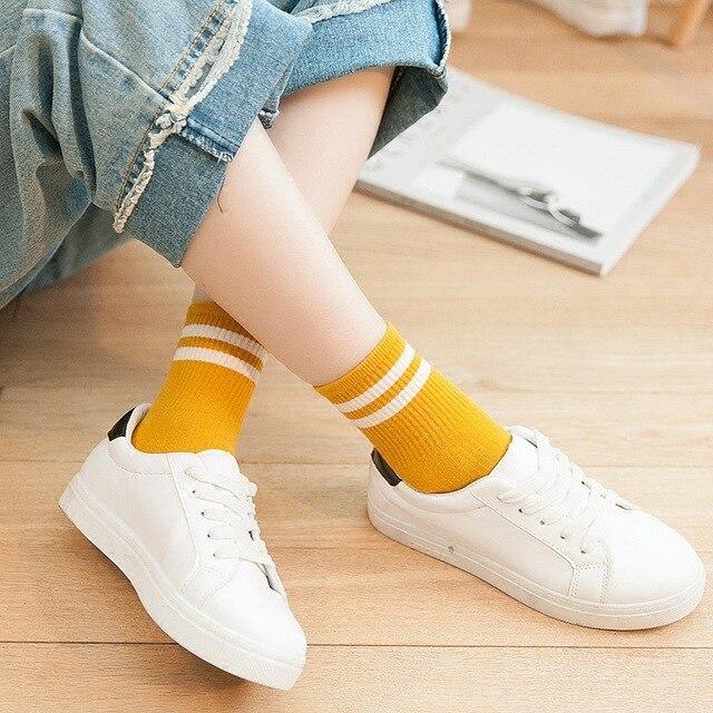 Dámske ponožky Blurio s pásikom