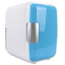 Двойной-использование 4L домашний Автомобиль Применение холодильники Ультра тихий низкий уровень шума автомобиля мини-Холодильники Морозильник охлаждение, отопление коробка холодильник