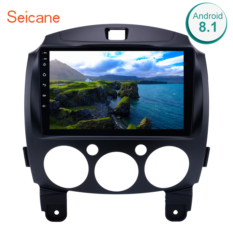 Seicane 9 inch 2Din Android 8.1 Car Radio Stereo GPS Navigation Head Unit For MAZDA 2/Jinxiang/DE/Third generation 2007 2014