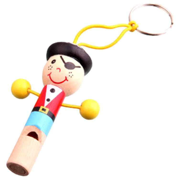 Kids Wooden Toy Mini Whistle Pirates styles Developmental education Toy wood material musical instrument Toys figure modeling