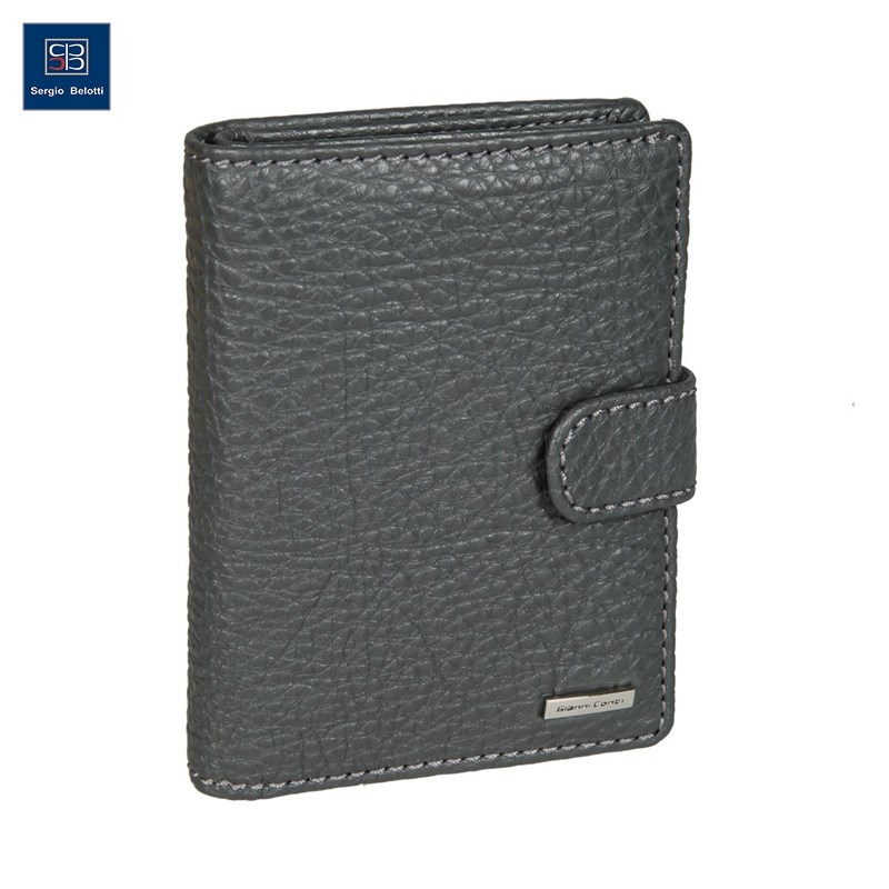 Coin Purse with cover for avtodokumentov Gianni Cont 9518451 dark gray short genuine leather men rfid wallet cowhide cover coin purse male wallets