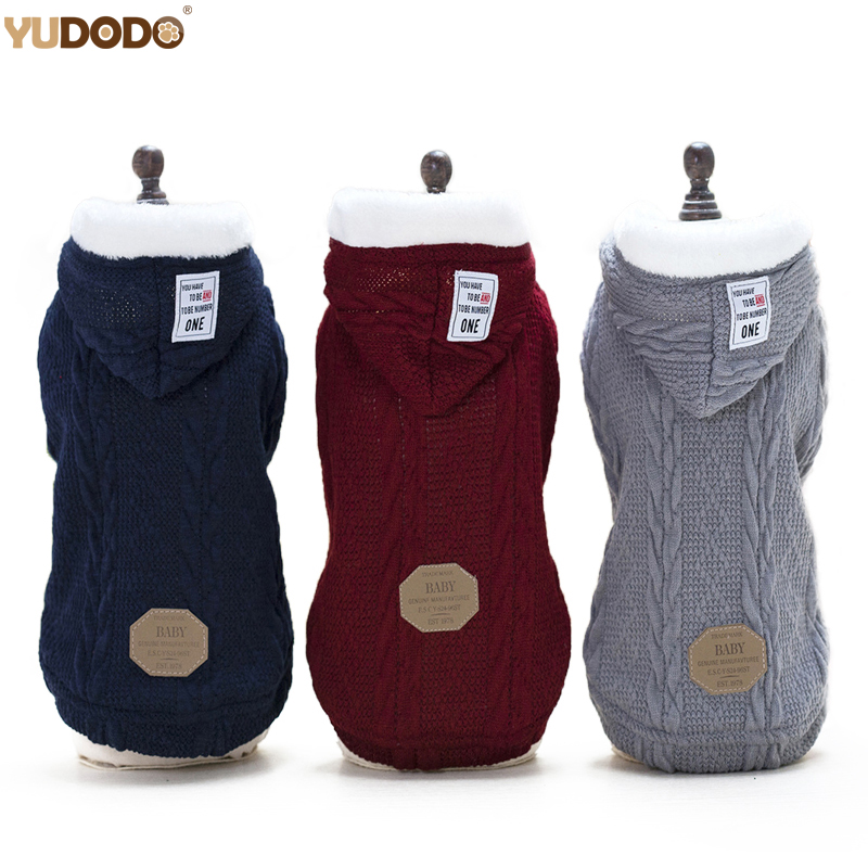 Winter Warm Dog Coat Jacket Knitting Sport Style Pet Cat Puppy Sweater Hooded Dog Clothes For Small Dogs|Dog Coats & Jackets| - AliExpress