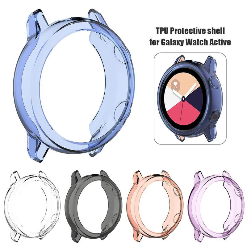 Clear TPU Protector Watch Case Cover Shell For Samsung Galaxy Watch Active 42*42*10mm Smart Accessory For Smart Watch Protection