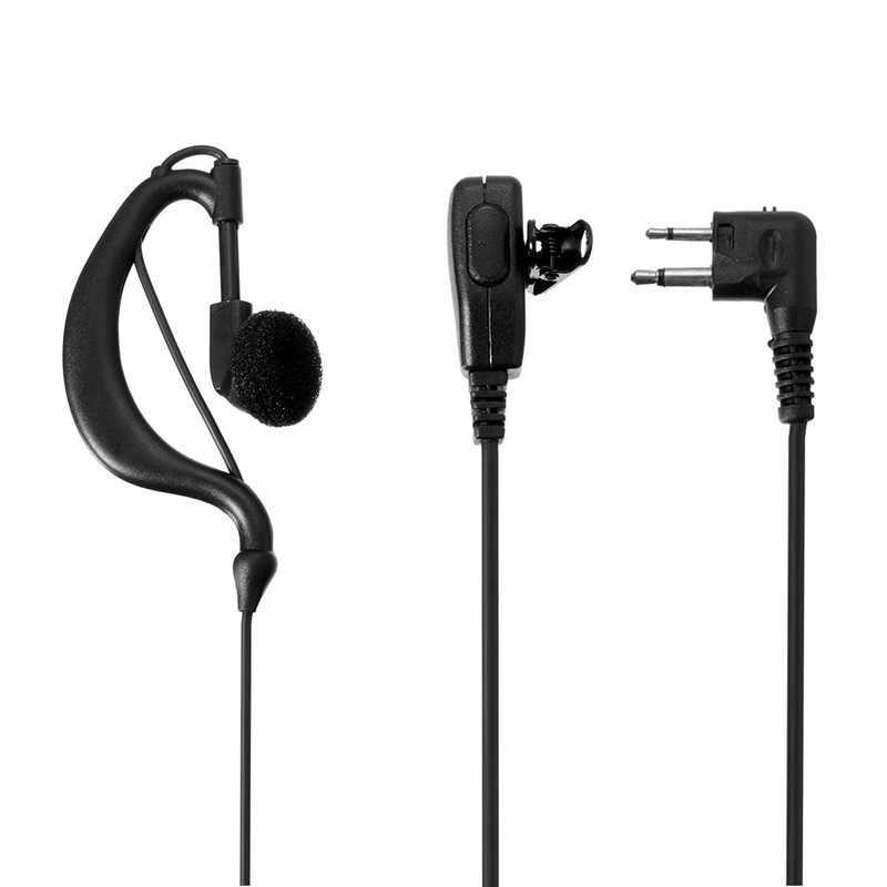 90cm zestaw słuchawkowy w kształcie litery G słuchawka douszna z mikrofonem do Walkie Talkie CP040 2 szpilki do radia Motorola