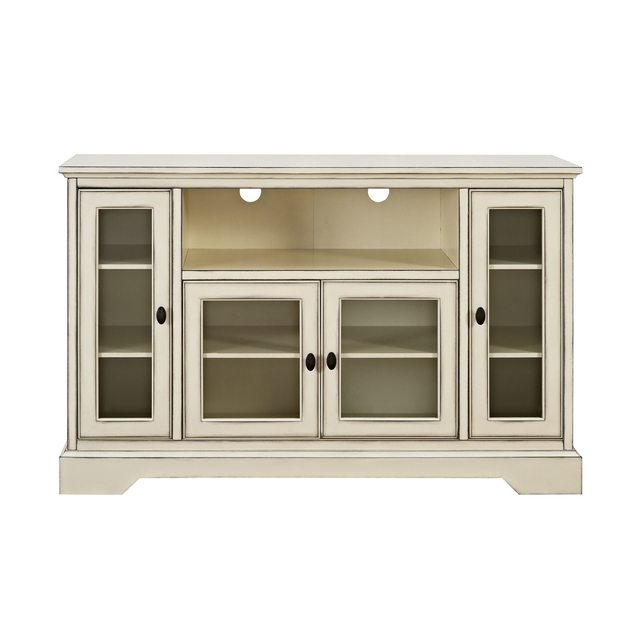 We Furniture 52 Highboy Style Wood Tv Stand Antique White In Tv