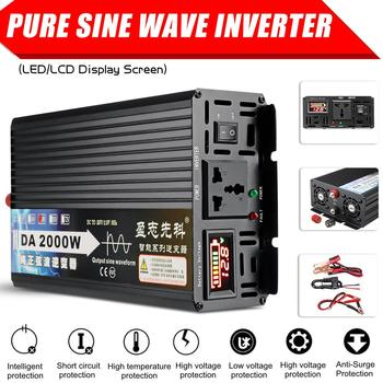 Inversor de potencia de onda sinusoidal pura de 2000W / 3000W/4000W, 12V/24V/48V/60V a 220V, convertidor de voltaje de pantalla LCD