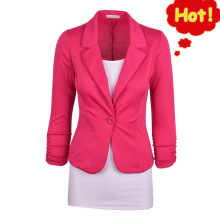 Asstseries Spring Autumn for Women Short Fresh Jacket Cotton Spandex Ladies Blazers