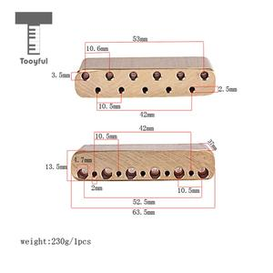 Image 5 - Tooyful Finest Brass Tremolo Block Sustain Bridge for Strat Electric Guitar Replacement Parts