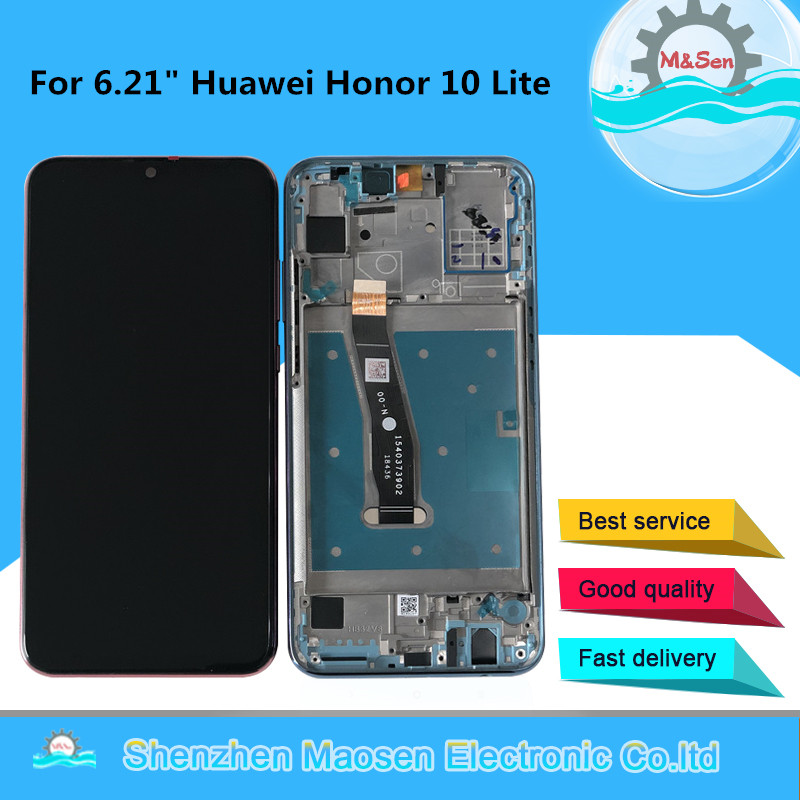 Original M&Sen For 6.21 Huawei Honor 10 Lite RNE-L21 RNE-L23 RNE-L03 LCD Display Screen+Touch Panel Digitizer With Frame+toolsOriginal M&Sen For 6.21 Huawei Honor 10 Lite RNE-L21 RNE-L23 RNE-L03 LCD Display Screen+Touch Panel Digitizer With Frame+tools