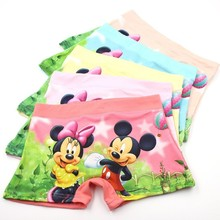 3 pcs/lot Straight Angle Underpants Children Cartoon Printing panty girls kids baby girl underwear panties topolino briefs