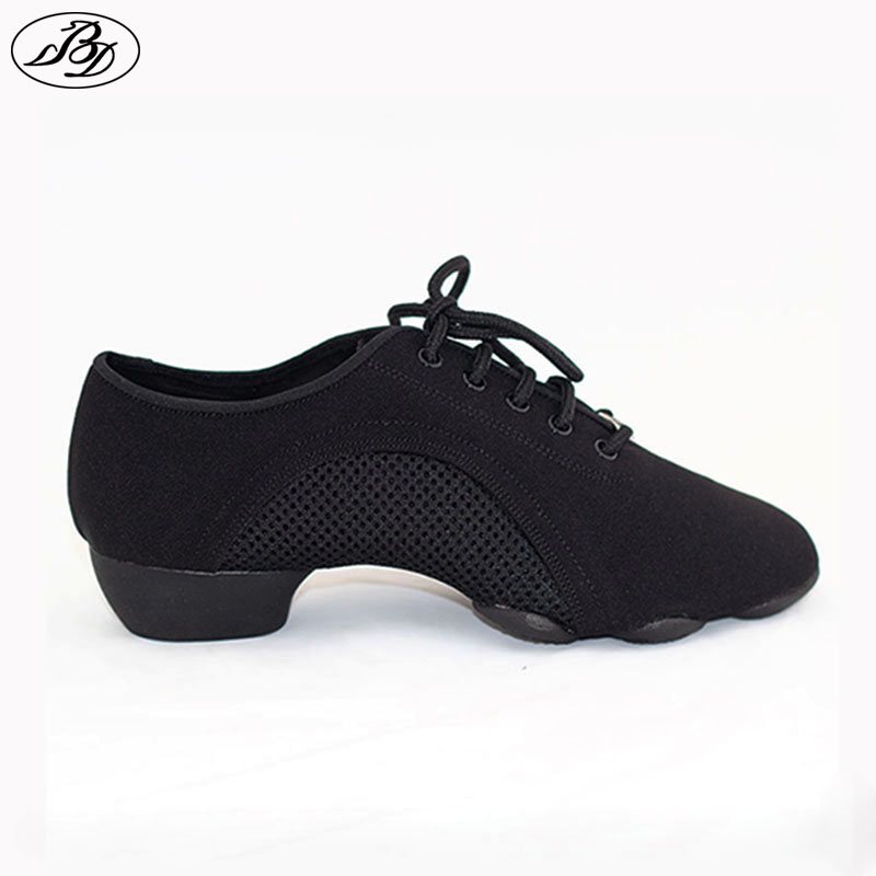 Women Men Teaching Shoes BD Dance Shoe JW1 GENERALIST Modern Shoe Latin Shoes Ballroom Canvas Three