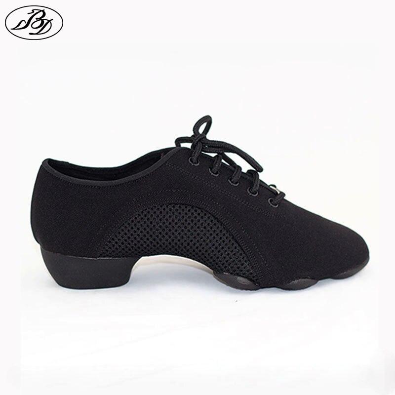 Femmes/hommes chaussures d'enseignement BD chaussure de danse JW1 généraliste chaussure moderne chaussures latines salle de bal toile trois sections semelle