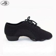 Kadınlar/erkekler öğretim ayakkabıları BD dans ayakkabısı JW1 öğretim GENERALIST Modern Latin ayakkabı balo salonu tuval üç bölüm taban