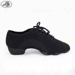 Women/Men Teaching Shoes BD Dance Shoe JW1 GENERALIST Modern Shoe Latin Shoes Ballroom Canvas Three-Section Sole