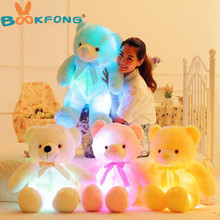 30/50/80cm Luminous Creative Light Up LED Teddy Bear Stuffed Animal Plush Toy Colorful Glowing Teddy Bear Christmas Gift for Kid
