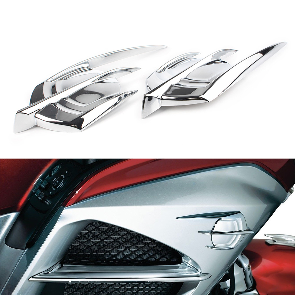 2PCS Motorcycle Chrome Falcon Emblem Fairing Cover For Honda Goldwing GL1800 2012 2013 2014 2015 2016 2017