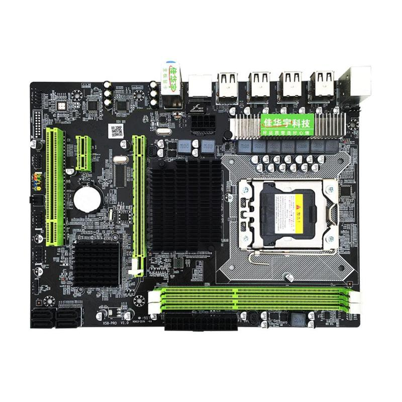 1 pièces X58 Pro Carte Mère De Bureau avec LGA 1366 Prise pour E5502 L5506 W3503 EC3539 LC3528 2xDDR3 DIMM