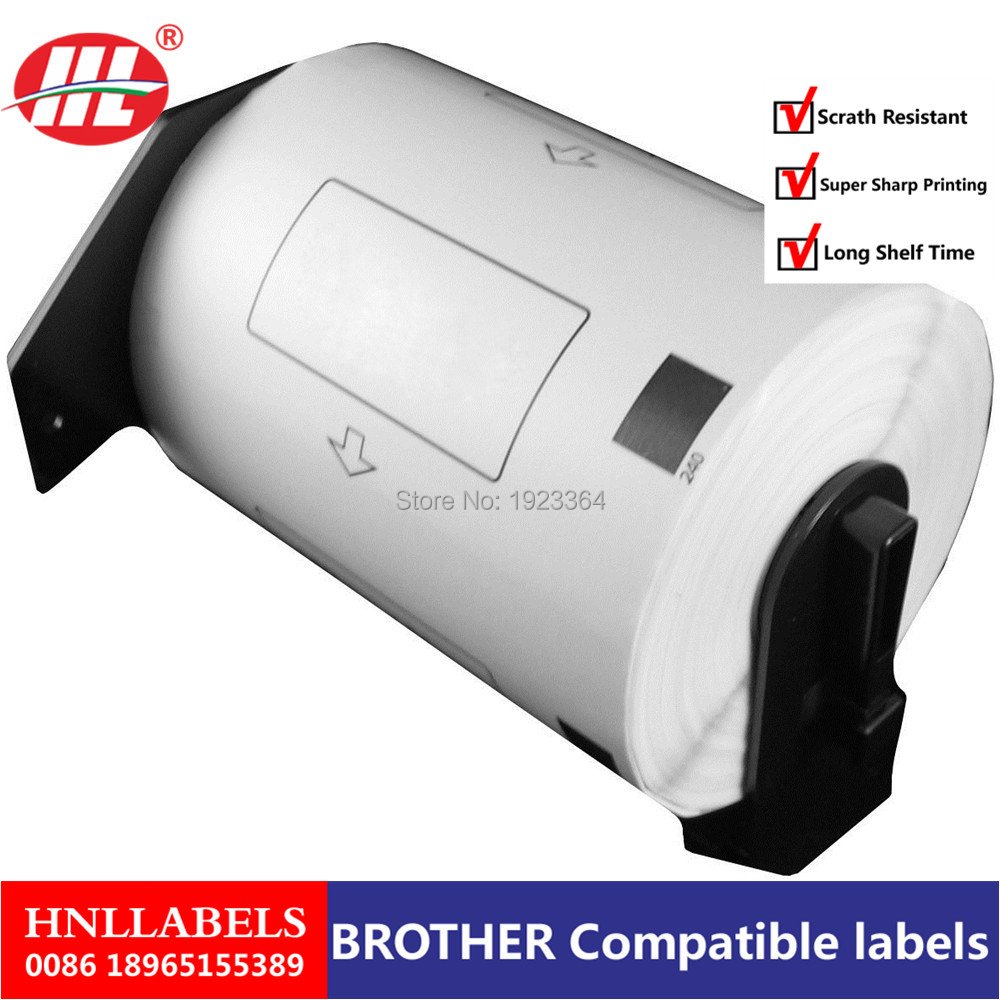 200X Rolls Brother Compatible Labels DK-11202 DK1202(other Products:11201 11203 11204 11208 11209 22210 11240 11241 22205 )