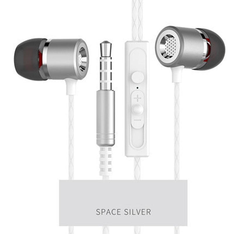 2018 Atualizado 3.5mm Metal fone De Ouvido Com Fio Fones De Ouvido Estéreo de Alta Fidelidade de Graves Fone de Ouvido Fones De Ouvido Com Microfone Para O Telefone Do Computador Fone de Ouvido 1