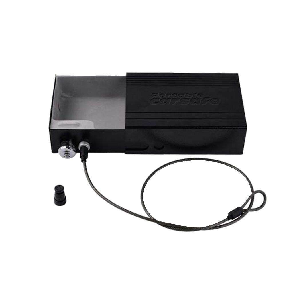 Dans la voiture Portable coffre-fort coffre-fort coffre-fort avec serrure à clé câble de sécurité pour stocker des clés d'argent bijoux portefeuilles lecteurs MP3
