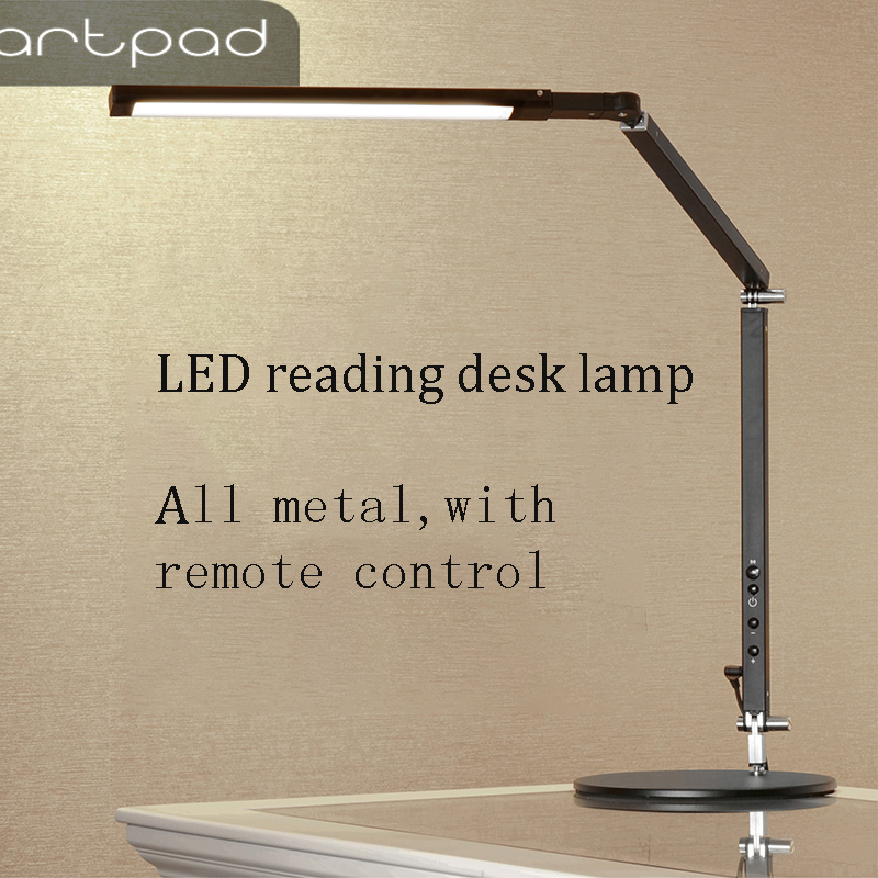 Artpad 8W Manicure Desk Lamp White Black Silver body Three Color Temperature Remote Control Adjustable Lamp for Table Luminaire