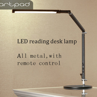 Artpad 8W Manicure Desk Lamp White Black Silver body Three Color Temperature Remote Control Adjustable Lamp for Table Luminaire