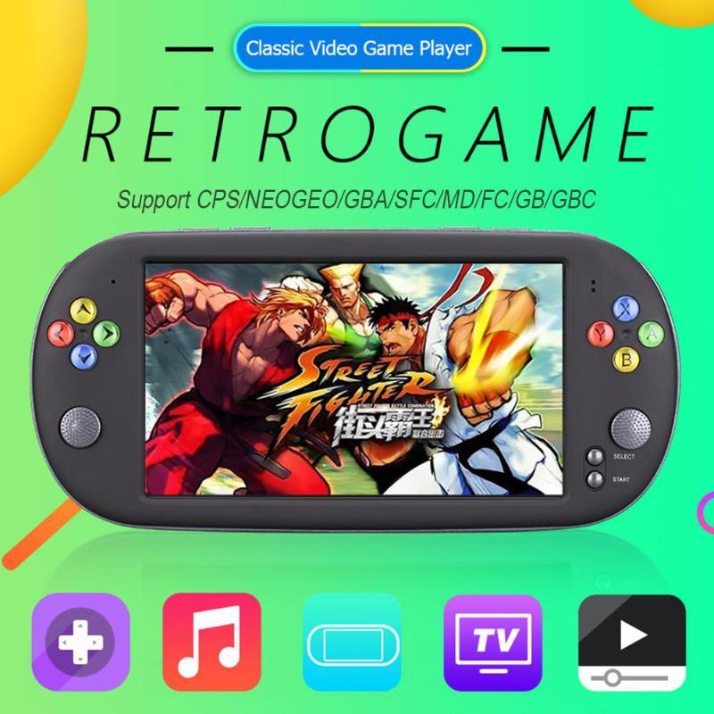 8 GB X16 7 pouces Portable Console de jeu Portable classique joueurs de jeux vidéo rétro jeu mini console bitboys coolbaby plus de 2000