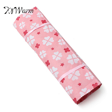 KiWarm Fashion 1Pcs 22Slots Non Woven Crochet Hook Knitting Crocheting Needle Case Holder Organizer Bag Color randomly