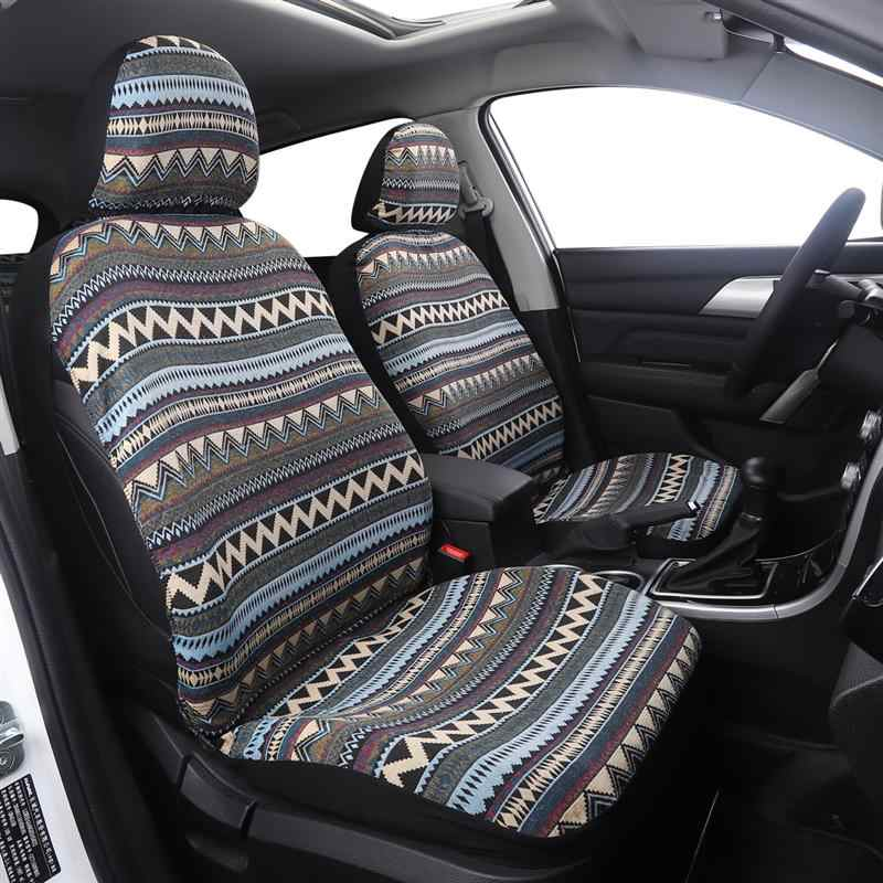 8Pcs/Set Ethnic Style Car Seat Cover Universal Breathable Bucket Seat Cover Car Blanket Protector Auto Car Accessories чехлы на авто автоодеяло для автомобиля