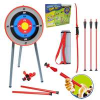 Kids Toy Bow Arrow Archery Target Aiming Shooting Set Outdoor Garden Fun Game Safe Fun Play with Friend Family Develop Aim Skill