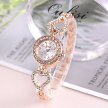 Top Brand Luxury Bracelet Women Watches Fashion Quartz Crystal Rhinestone Watch Ladies Casual Dress Sport WristWatch Reloj Mujer dwg brand slim blue watch bracelet quartz watch for women waterproof pu leather rhinestone analog wristwatch classy ladies reloj