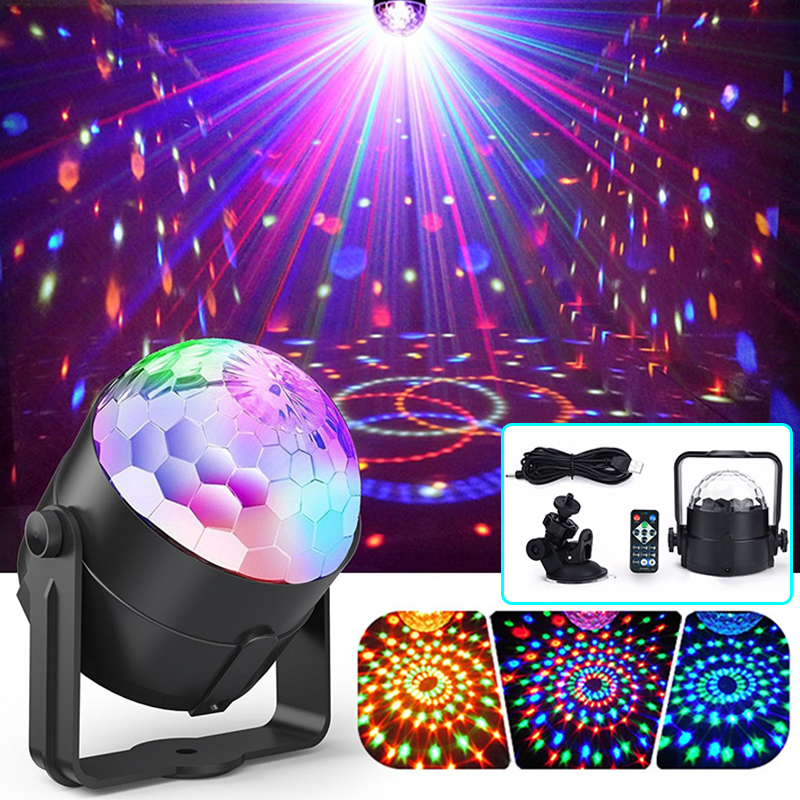 Disco Ball Lights LED Party Lamp RGB Remote Control Stage Light USB Power D30