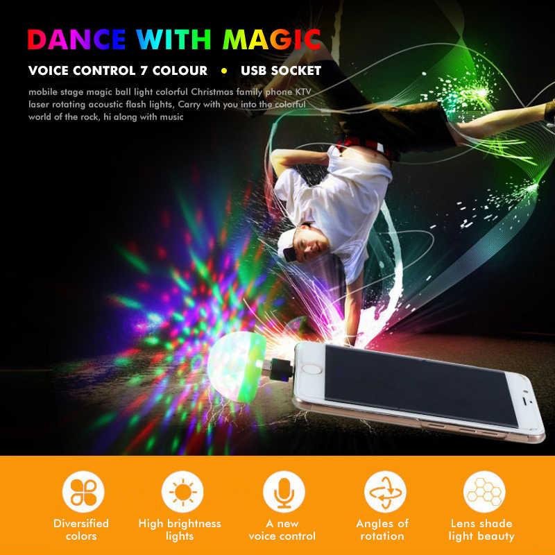 2019 Mini USB światło dyskotekowe LED oświetlenie imprezowe kolorowy efekt światło sceniczne oświetlenie dj lampa do dekoracji domu Karaoke Dropship