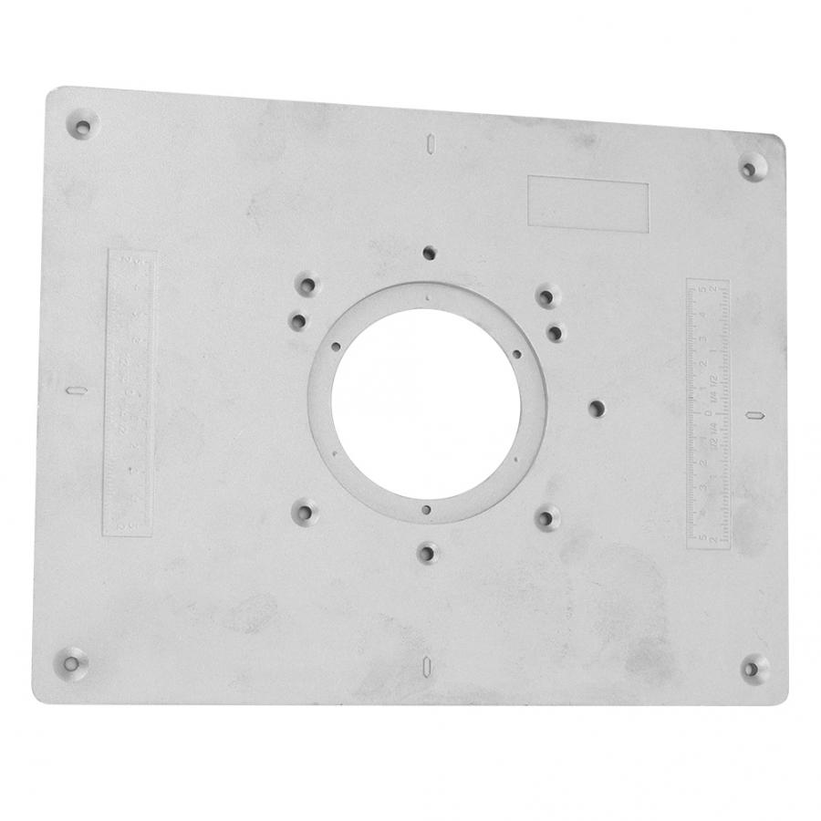 Aluminum Alloy Router Table Insert Plate with Rings and Screws for Woodworking Benches Machinery for DIY
