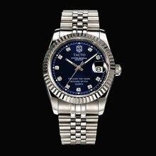 TACTO Watch Mens Top Brand Luxury Full Steel Military Wrist Watch Men role 50M Waterproof Business Luminous Quartz Clock 2018