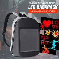 Advertising LED Screen Dynamic Backpack 5v DIY Backpack WiFi LED City Walking Advertising BackBag Backpack