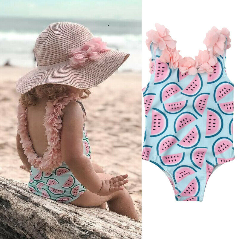 2019 1-4Years Toddler Infant Baby Girls Summer Holiday Beach Clothes O neck Watermelon Swimsuit Swimwear Swimming Bikini2019 1-4Years Toddler Infant Baby Girls Summer Holiday Beach Clothes O neck Watermelon Swimsuit Swimwear Swimming Bikini