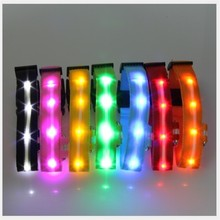 Glowing LED Dog Collar Anti-Lost Nylon Star Light For Dogs Puppy At Night Cool Pug Supplies Pet Products