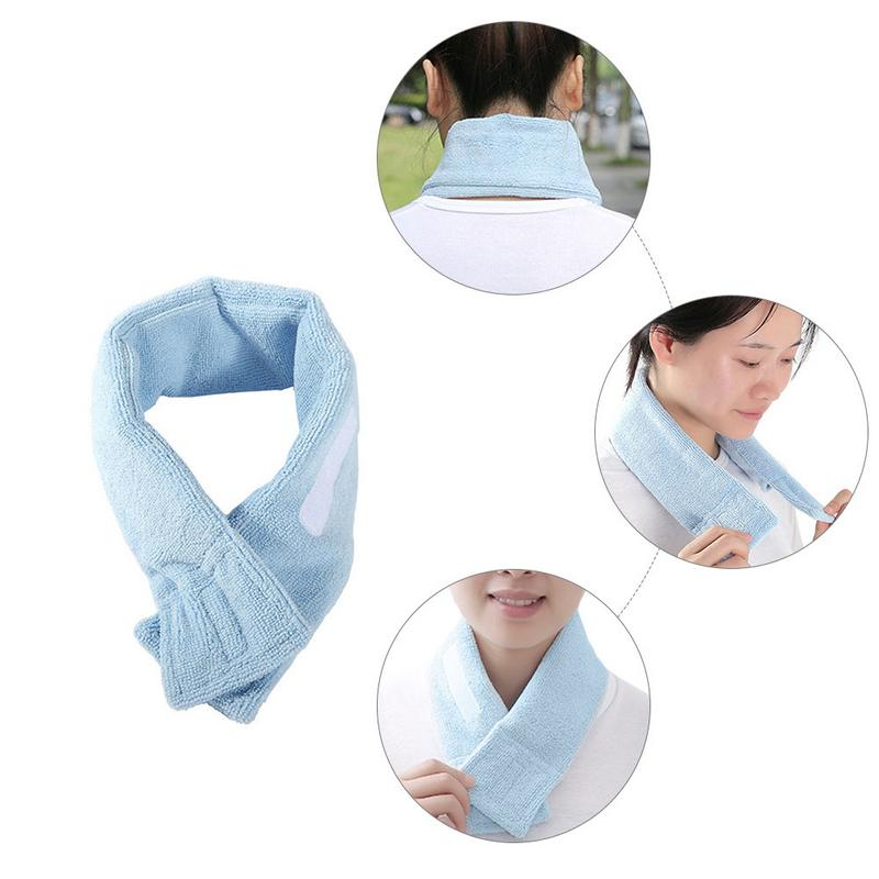 Cooling Scarf High Quality Polyester Cooling Neck Wrap Ice Pack Cooling Scarf For Outdoor Riding Fishing Sports Entertainment