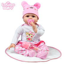 Logeo Baby bebes reborn doll Realistic Vinyl Doll children's day gifts toys Silicone Baby Doll Newborn Baby lol dolls gifts keiumi real 22 inch newborn baby doll cloth body realistic lovely baby doll toy for children s day kid christmas xmas gifts