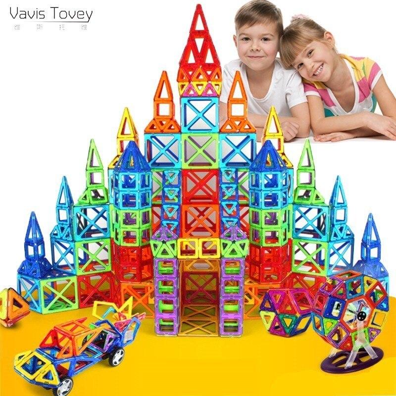 Vavis Tovey grand ensemble de Construction design modèle & jouet de Construction blocs magnétiques en plastique jouets éducatifs enfants cadeau
