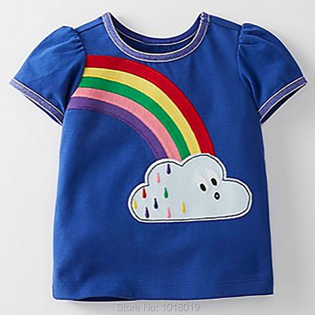 f971aba1 New 2019 Summer Brand Quality 100% Cotton Baby Girls t-shirt Short Sleeve  Children Clothing Bebe Kids t shirts Baby Girl Clothes