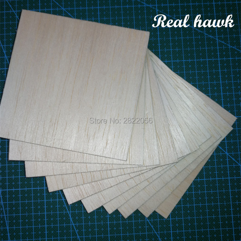 AAA+ Balsa Wood Sheets 100x100x10mm Model for DIY RC model wooden plane boat material
