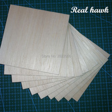 AAA+ Balsa Wood Sheets 100x100x10mm Model Balsa Wood for DIY RC model wooden plane boat material цены