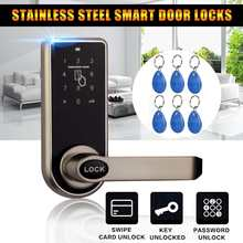 Smart Electronic Door Lock 3 in1 Password Mechanical ID Card