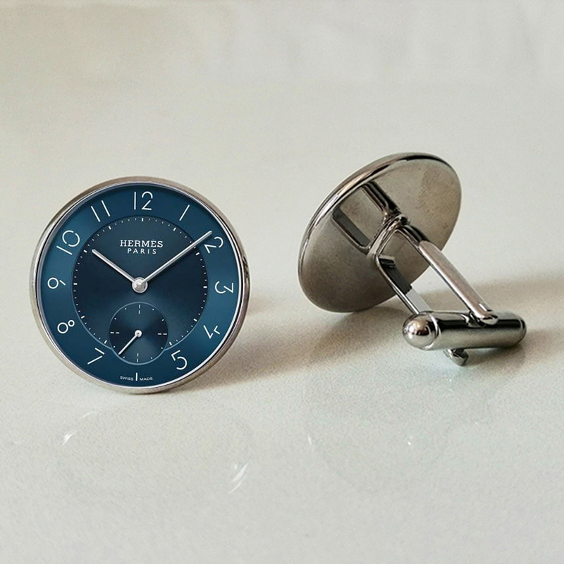 Iron Clock Glass Cufflinks Men And Women Cufflinks Jewelry Custom Family Photo Fashion Clock Time And Money Cufflinks